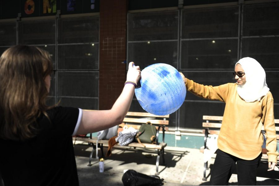 Students preparing for climate week.