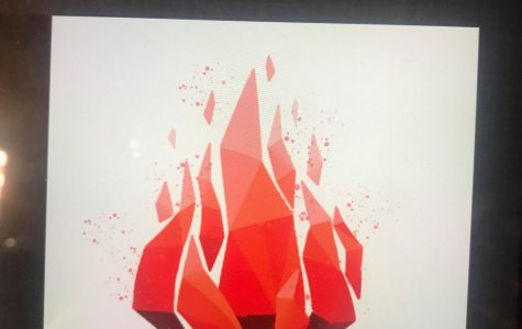 Fire flames kindling the project's motivation to inspire is the image of Veni Vidi Vici's logo, created by Elaine Wang '21.