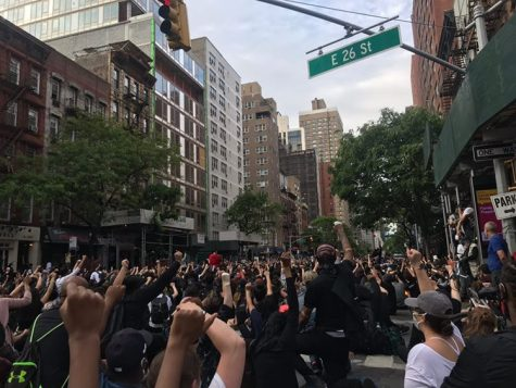 """Ruby Hogue '20 participated in the Black Lives Matter protests. """"We marched and chanted for miles. There was no major tension between the protestors and the police, which had the potential to break out in violence."""""""