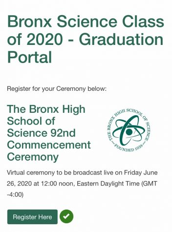 Registration for the virtual graduation ceremony takes place online, where seniors can customize a message to the class of 2020.