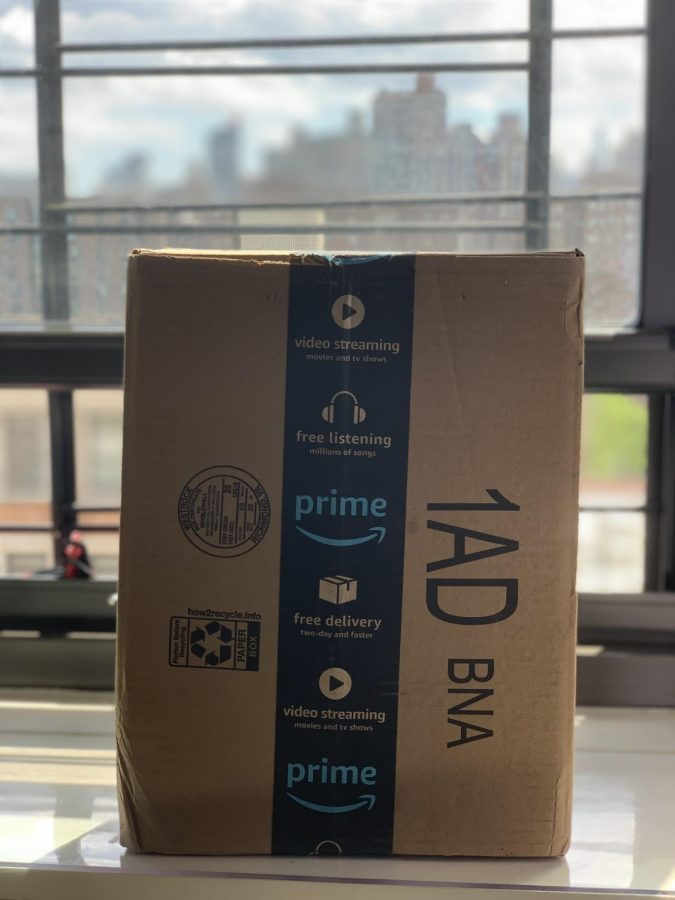An Amazon prime package. Amazon prime membership has skyrocketed since the start of the Coronavirus pandemic, and the increased demand has put a pressure on workers who have to deal with health risks. Each package delivered requires the labour of multiple workers who are not being paid properly during this dangerous time.