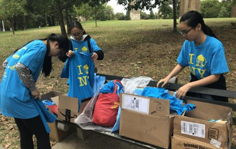 Bronx Science students in Key Club are pictured helping out at a community event earlier in the school year before the Coronavirus pandemic closed in-person schooling. Members of the Key Club practice the ethos of giving back to their community, as many organizations are now doing during the Coronavirus pandemic.