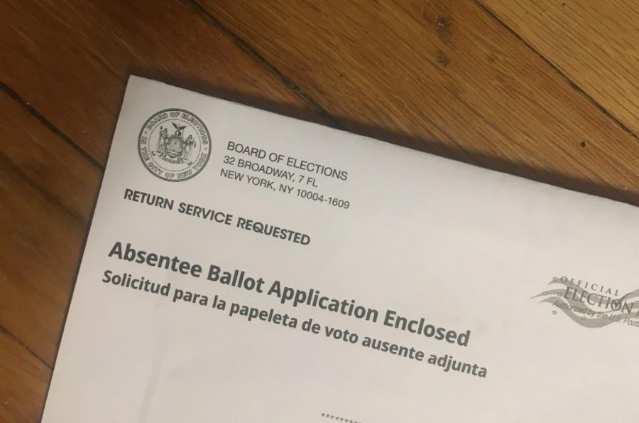 New York State sent a request for an absentee ballot in the June 23, 2020 primary elections to every registered voter. It is one of many states that have looked to expanding voting-by-mail in the wake of the Coronavirus pandemic.