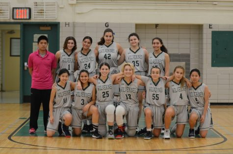Here is the team photo of the Girls Varsity Basketball Team.