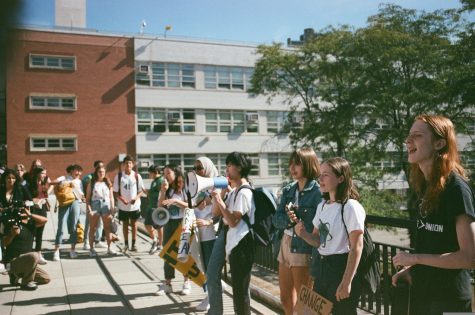 In September 2020, Bronx Science students joined the worldwide protests for action against climate change.