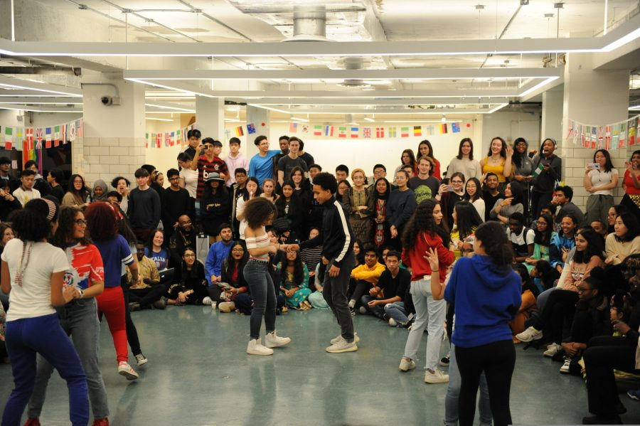 Students dance during Cultural Day.