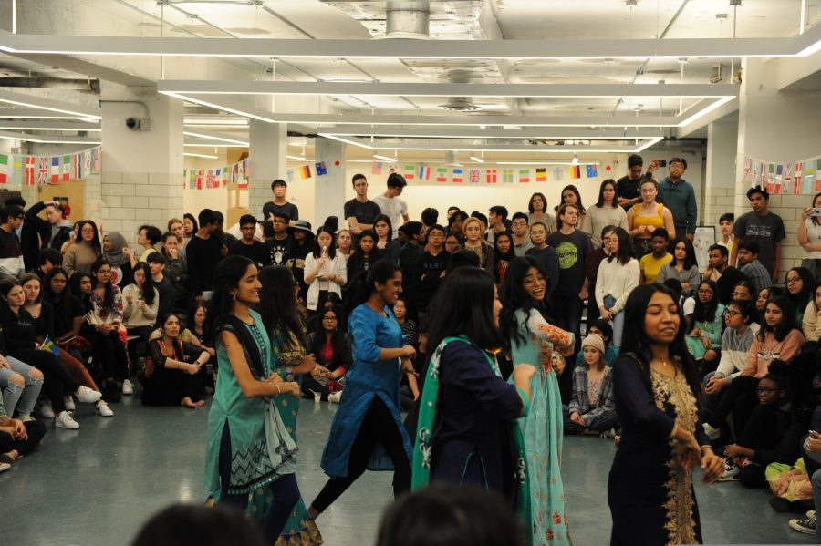 The Bronx Science community watches a performance during its very first Cultural Day.