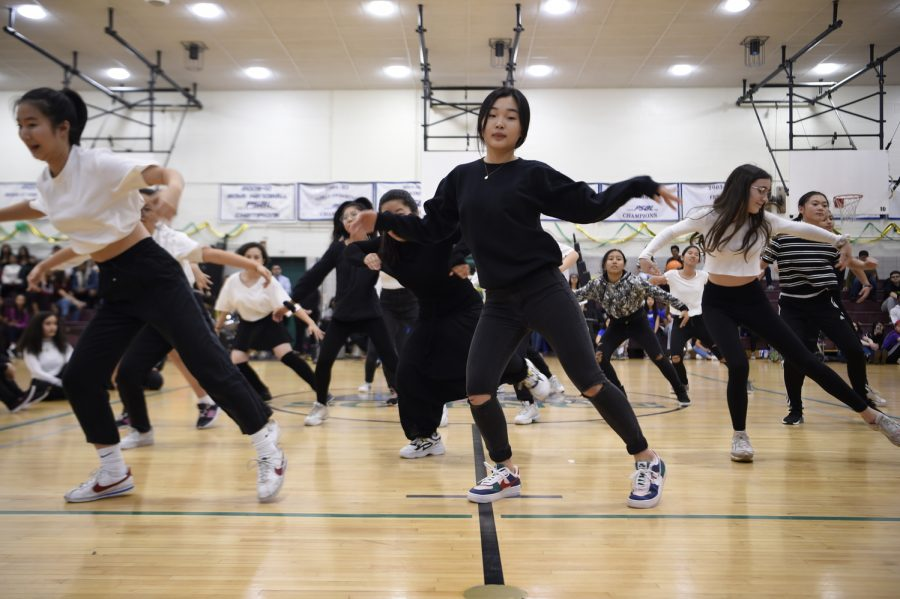 The Urban Dance Club puts on one of their largest performances during Homecoming.