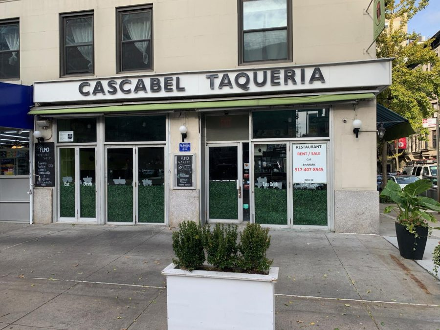 "Cascabel Taqueria, a once ""funky"" and ""casual"" Upper West Side taqueria, is one of the many New York City small businesses that has been forced to close since March 2020, due to the Coronavirus pandemic. Unfortunately, like many other restaurants across the country, the once neighborhood hotspot has had to put a ""Space For Rent,"" sign in their window. As temperatures drop during the winter months, and the hopes of a government stimulus package lessens, owners are worried that their restaurants will have to face this same fate, once outdoor dining is no longer a viable option."