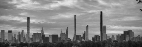 Here is a panoramic view of Billionaires' Row as seen from within Central Park in Manhattan.