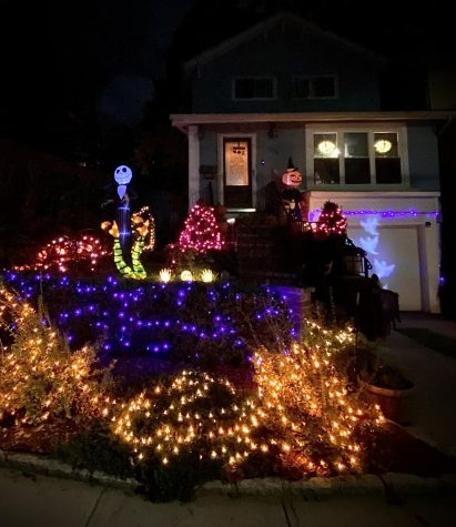 Families continue to decorate their houses and yards for Halloween, despite a lack of trick-or-treaters.