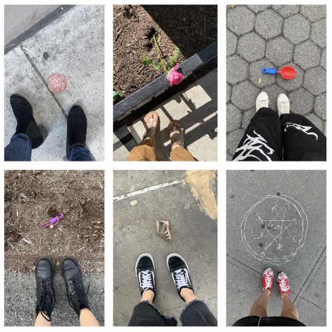 On a postcard might be any of these funny objects that Jiahe Wang has found left on the street.