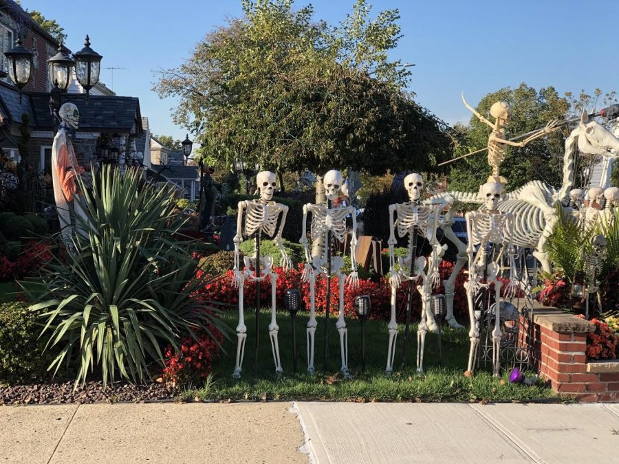 Despite there being no candy on offer this year, due to safety concerns with the Coronavirus pandemic, many house owners in New York City's five boroughs still decided to maintain the Halloween spirit and went ahead and put up Halloween decorations.