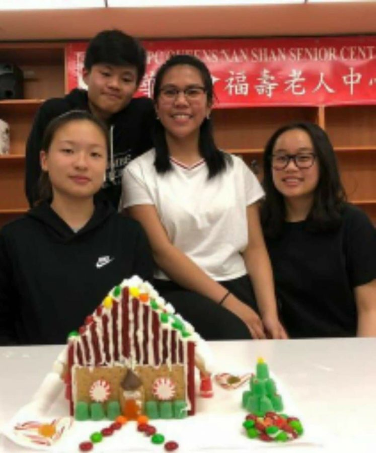 During the Winter Break of December 2019, before the Coronavirus pandemic radically altered holiday celebrations, Becky Chen '21 attended a gingerbread house making competition with her friends at the Chinese American Planning Council in Queens.