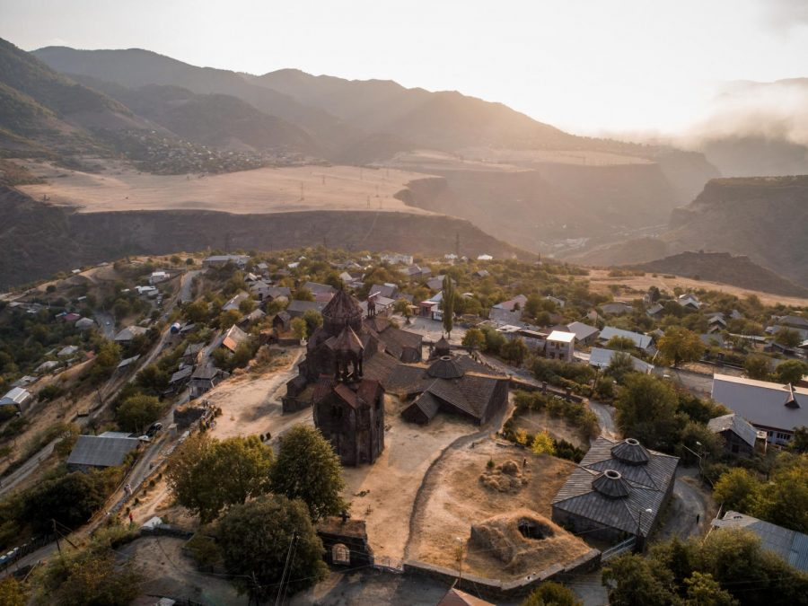 Russia has mediated a treaty between the two countries of Armenia and Azerbaijan to negotiate the fate of the territory of Nagorno-Karabakh. By the terms of the treaty, Azerbaijan will take control of territory that it has unsuccessfully claimed since 1990. Here is a photo of Monastery Valley in Armenia.