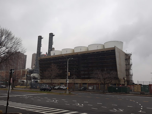 Riverbay Cogeneration Plant provides energy to Co-op City's some 50,000 residents via the burning of fossil fuels. It is located just off the center of one of the Co-ops.