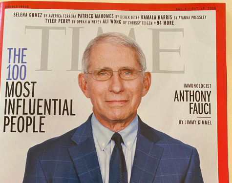 Dr. Anthony Fauci appeared on the front cover of