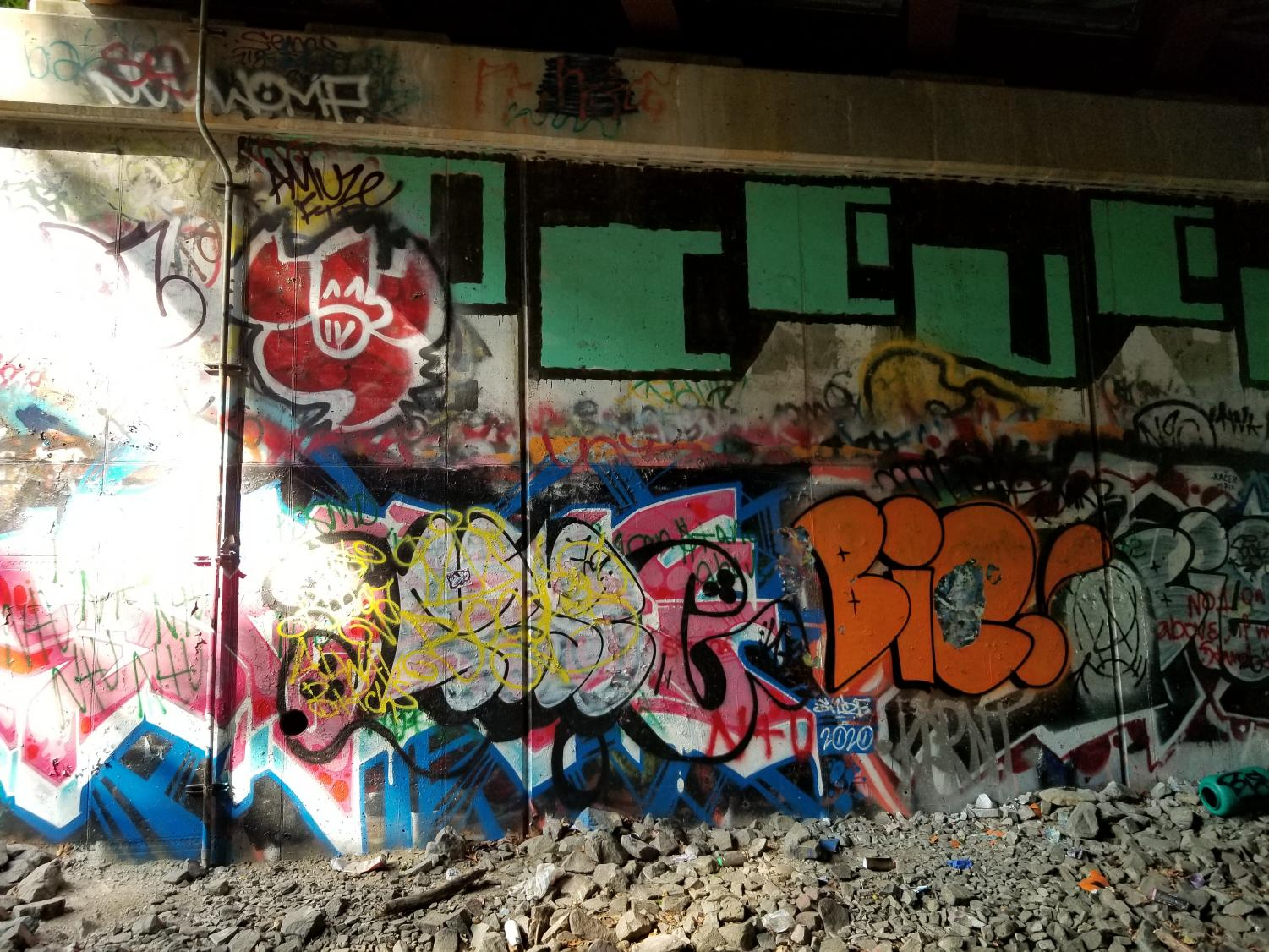 Neglected underpasses and walls become local hotspots as graffiti writers find time and space to execute their work.