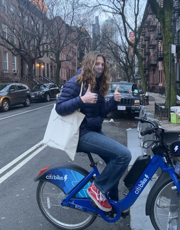 Grace Zagoria '23 uses Citi Bikes regularly to embark on adventures around New York City.