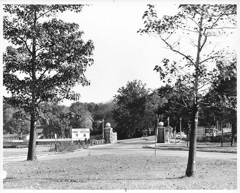 Here is the entrance to Fort Totten Base circa 1960s-1970s.