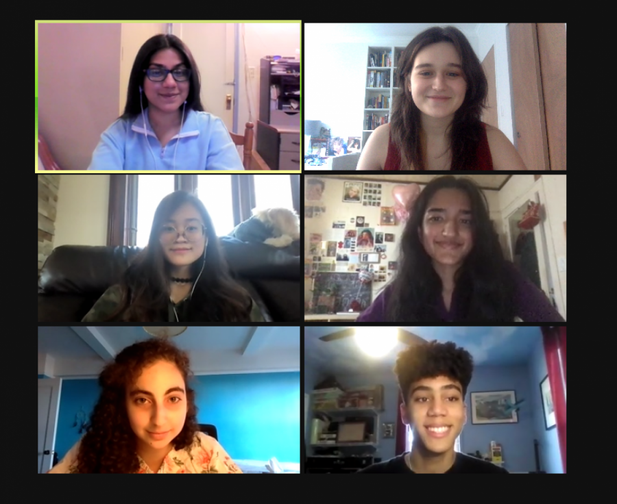 Here are some of the Editors-in-Chief of 'The Science Survey' during a Zoom meeting as they planned out this advice column. From left to right, top to bottom: Samama Moontaha '21, Edie Fine '21, Alina Chan '21, Lavanya Manickam '21, Maggie Schneider '22, and Michael Toscano '21.