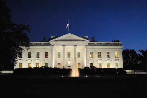 The White House is the former residence of Donald Trump and the current residence of President Joe Biden.
