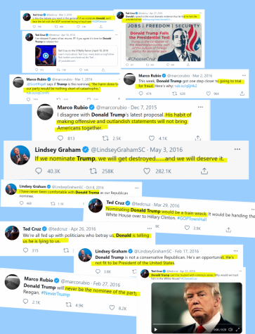 Here is a compilation of past tweets from prominent Republicans, revealing their strong opposition of Trump and how they knew the consequences of letting him have power in the Republican party. However, their recent actions have shown that they are now supporting Trump in order to boost their political futures in the Republican party, in the years to come.