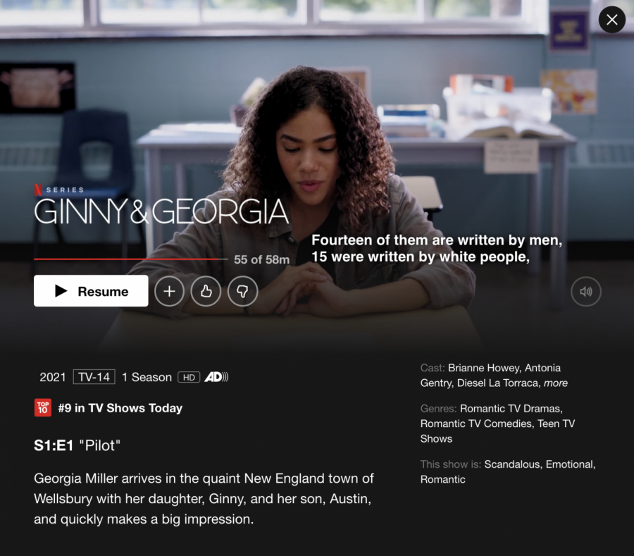 Netflix's new show, 'Ginny and Georgia' discusses many issues, but perhaps not in the right way.
