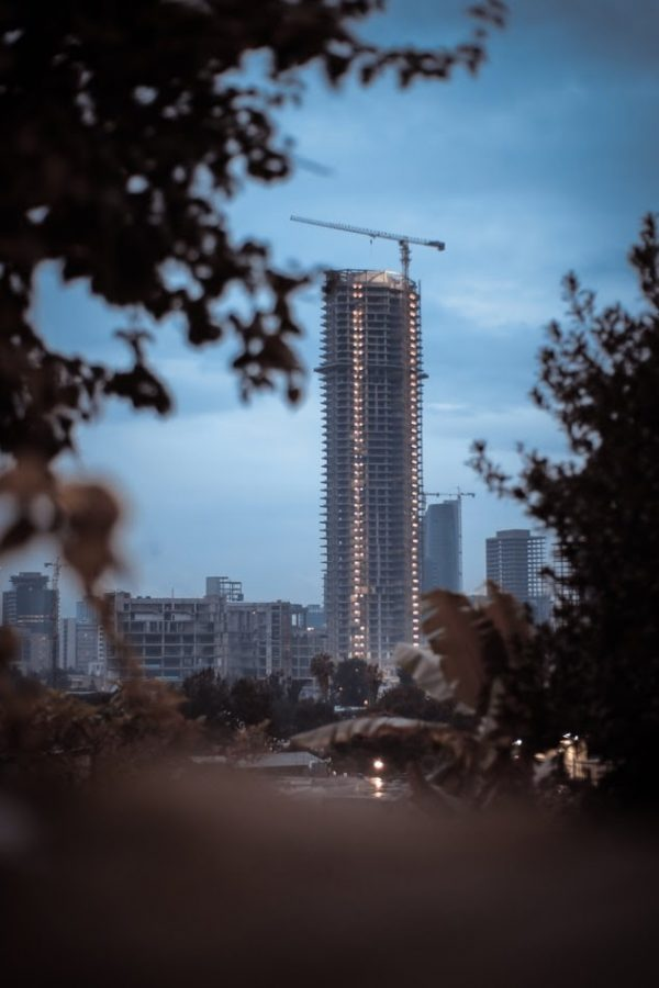 A skyscraper looms in Addis Ababa, Ethiopia's capital. The country's northern Tigray region has been consumed with violence and fighting since last November 2020, when the military invaded, after a regional political party attacked a government base.