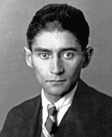 A portrait of Franz Kafka, taken in 1923 by an unknown photographer.