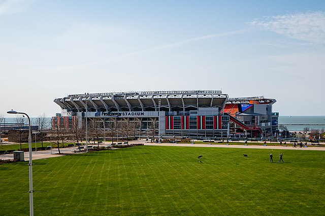 FirstEnergy Stadium in Cleveland is home of the 2021 NFL Draft.