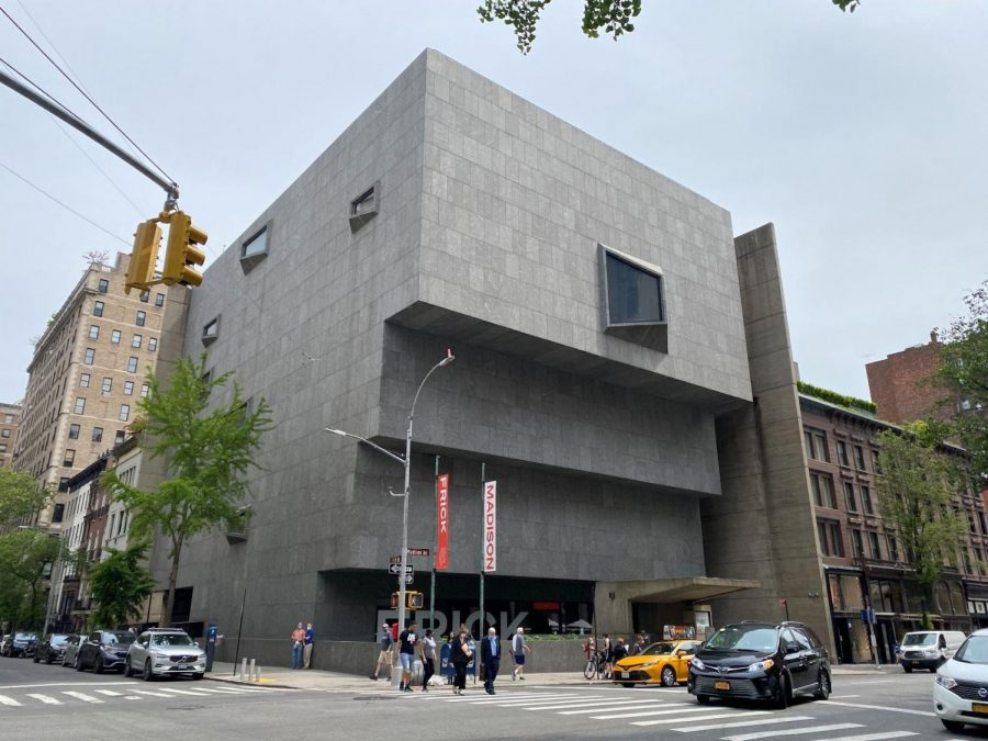 The new home of The Frick Collection in the modernist, brutalist Marcel Breuer-designed building standing at the Southeast corner of 75th Street and Madison Avenue in Manhattan.