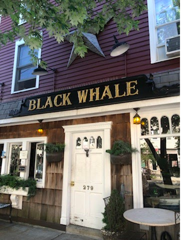 Here is the front of the Black Whale, an iconic City Island restaurant.