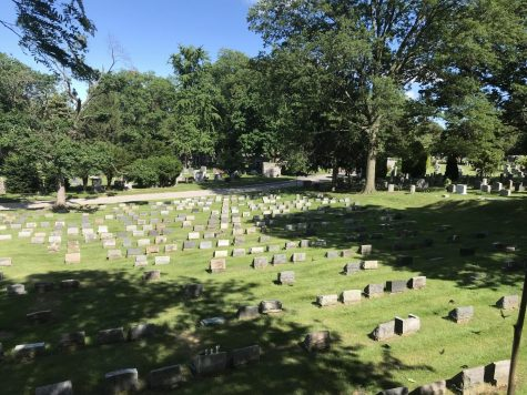 Here is a view of the Woodlawn Cemetery.