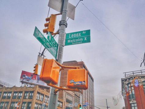One of the busiest intersections in Harlem is the one at Lenox Avenue and Malcom X Boulevard.
