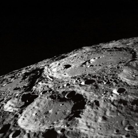Here is an up-close  photpgraph of the crater-filled surface of the Moon. When