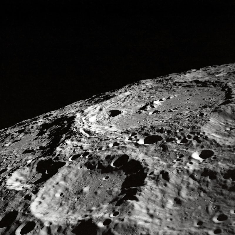 Here is an up-close  photpgraph of the crater-filled surface of the Moon. When The Artemins Project begins, we will have even more in-depth photography of the Moon available to us.