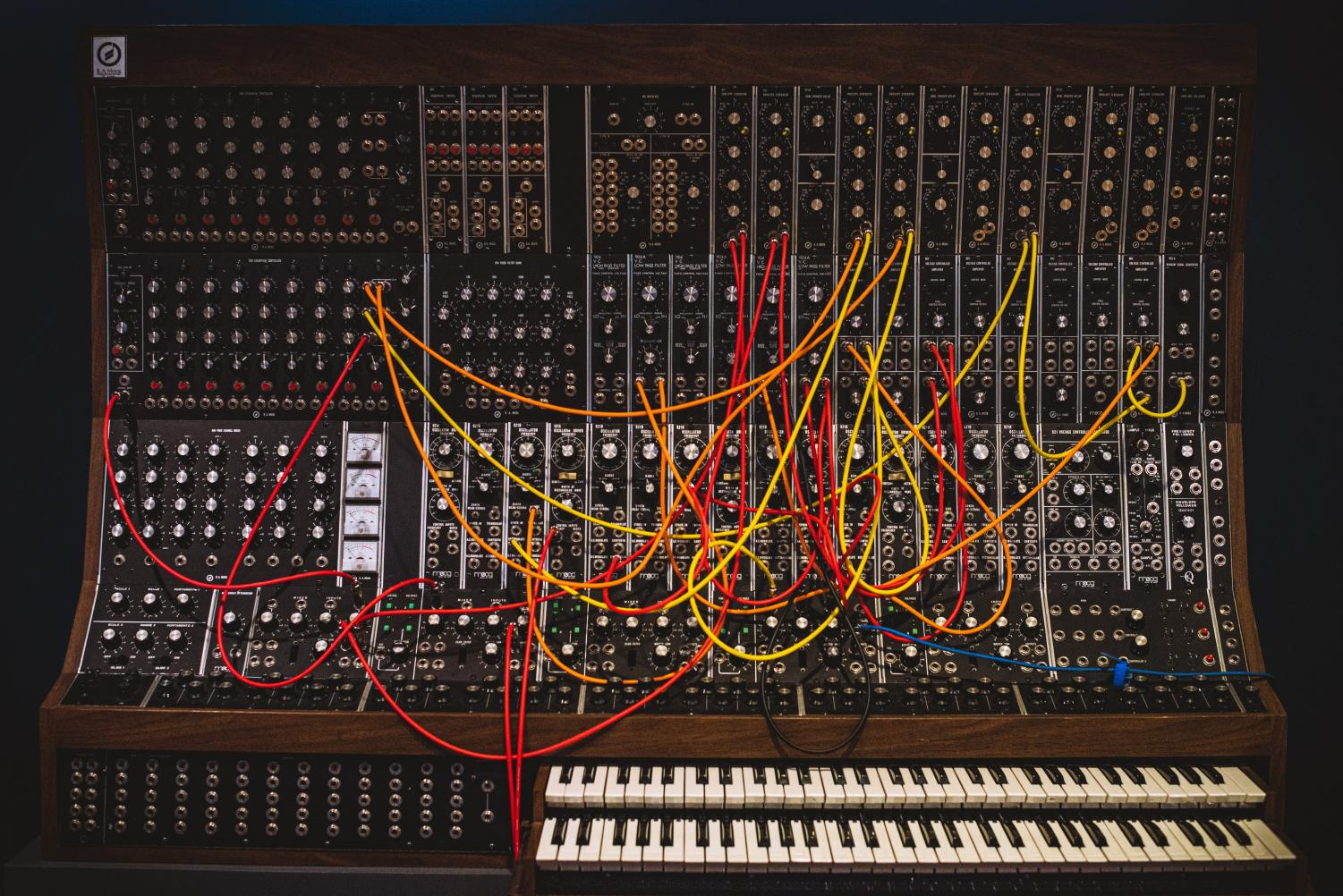 Here is the Moog Synthesizer designed by Robert Moog. One of the first synthesizers used in music, it allowed musicians to create their own sounds and to express themselves in an entirely new way. Albums such as
